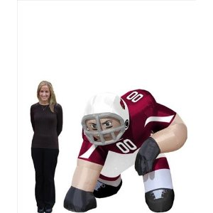 football player mascot inflatable