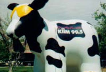 cow shape mascot inflatable